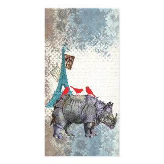 Vintage rhino card