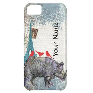 Vintage rhino iPhone 5C cover