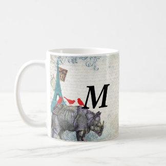 Vintage rhino coffee mug