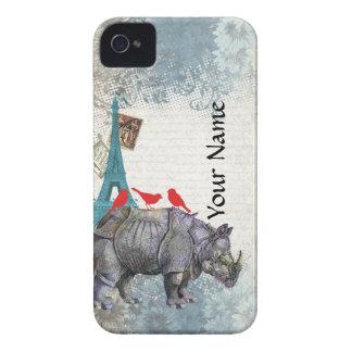 Vintage rhino iPhone 4 case