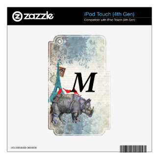 Vintage rhino iPod touch 4G decal