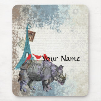 Vintage rhino mouse pad