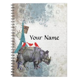 Vintage rhino notebook