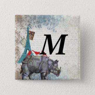 Vintage rhino pinback button