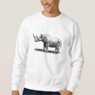 Vintage Rhinoceros Illustration Rhino Rhinos Sweatshirt