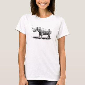 Vintage Rhinoceros Illustration Rhino Rhinos T-Shirt