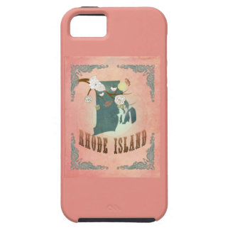 Vintage Rhode Island State Map- Pastel Peach iPhone 5 Covers