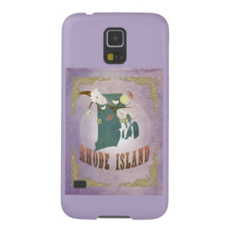 Vintage Rhode Island State Map- Sweet Lavender Galaxy S5 Covers