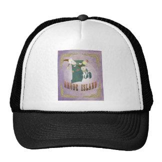 Vintage Rhode Island State Map- Sweet Lavender Trucker Hat