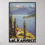 Vintage Rhône Alpes, Annecy, Francia - Posters