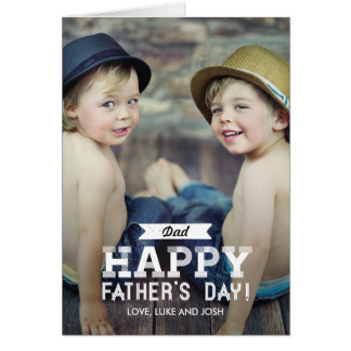Vintage Ribbon Fathers Day Photo Card