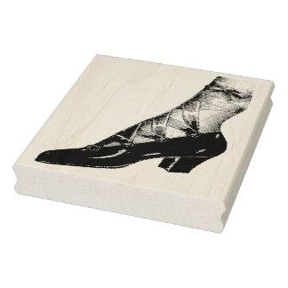 Vintage Ribbon Shoe Rubber Art Stamp
