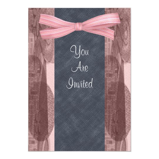 Vintage Ribbon Wedding Invitations