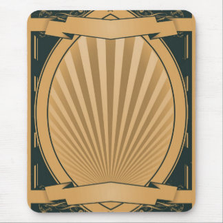Vintage Ribbons Poster Background Mouse Pad
