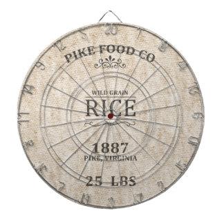 Vintage Rice Sack Dartboard