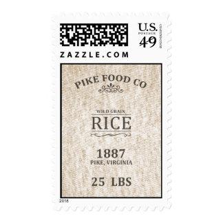 Vintage Rice Sack Stamp