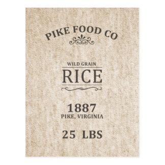 Vintage Rice Sack Postcard
