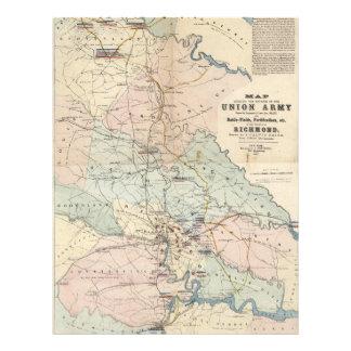 Vintage Richmond Virginia Civil War Battles (1864) Letterhead