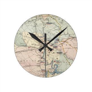 Vintage Richmond Virginia Civil War Battles (1864) Round Clock