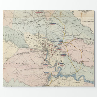Vintage Richmond Virginia Civil War Battles (1864) Wrapping Paper