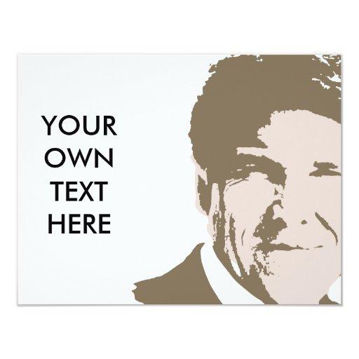 VINTAGE Rick Perry 2012 Invitación 10,8 X 13,9 Cm