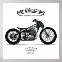 Vintage Ride n Destroy Chopper Motorcycle