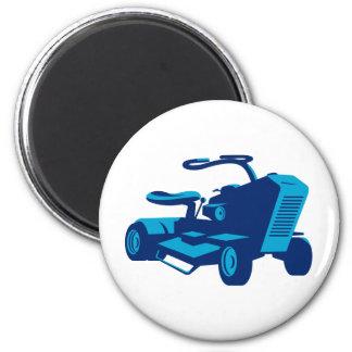 vintage ride on lawn mower retro magnet