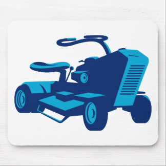 vintage ride on lawn mower retro mouse pad