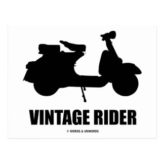 Vintage Rider (Motor Scooter Silhouette) Postcards