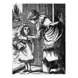 Vintage Riding Hood Mothers Warning Postcard