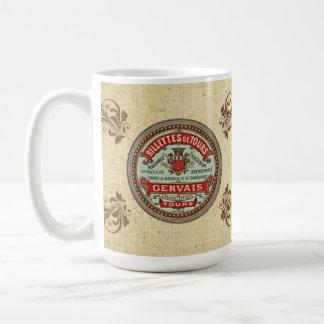 Vintage Rillettes De Tours French Label Mug