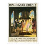 Vintage Ringing Out Liberty PA Postcard