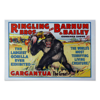 Vintage Ringling Bros Poster