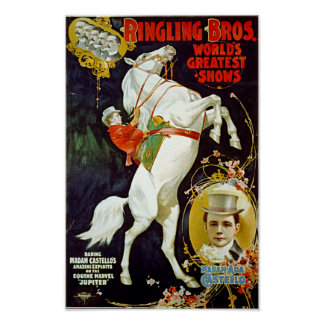 Vintage Ringling Bros. World's Greatest Shows Poster