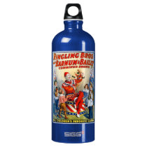 Vintage Ringling Brothers Clown Circus Poster Kids Aluminum Water Bottle