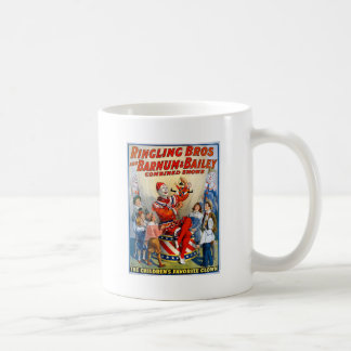 Vintage Ringling Brothers Clown Circus Poster Kids Classic White Coffee Mug