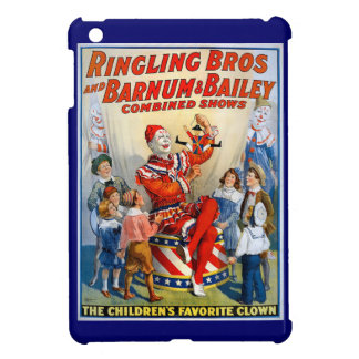 Vintage Ringling Brothers Clown Circus Poster Kids iPad Mini Cover