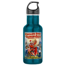 Vintage Ringling Brothers Clown Circus Poster Kids Water Bottle