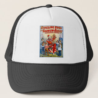 Vintage Ringling Brothers Clown Circus Poster Trucker Hat
