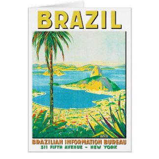 Vintage Rio Brazil Travel Poster Card