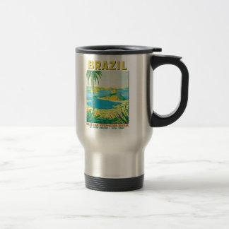 Vintage Rio Brazil Travel Poster Travel Mug