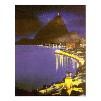 Vintage Rio De Janeiro at Night Invitation