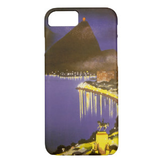 Vintage Rio De Janeiro, Brazil at Night iPhone 7 Case