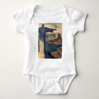 Vintage Rio De Janeiro, Christ the Redeemer Statue Baby Bodysuit