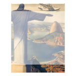Vintage Rio De Janeiro, Christ the Redeemer Statue Full Color Flyer