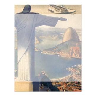 Vintage Rio De Janeiro, Christ the Redeemer Statue Flyer