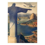 Vintage Rio De Janeiro, Christ the Redeemer Statue Personalized Invitations