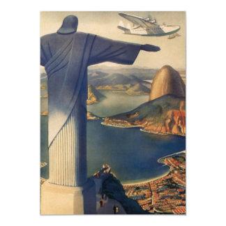 "Vintage Rio De Janeiro, Christ the Redeemer Statue 5"" X 7"" Invitation Card"