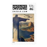 Vintage Rio De Janeiro, Christ the Redeemer Statue Stamps