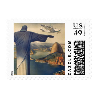 Vintage Rio De Janeiro, Christ the Redeemer Statue Postage